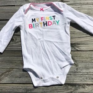 9m First Birthday long sleeve onesie